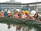 Warmwasserfischproduktion auf dem Kraftwerksgelände